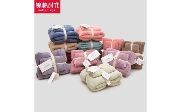 珊瑚绒毛巾_厂家新款日系风格珊瑚绒毛巾浴巾套巾加大珊瑚绒