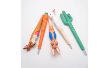 创意文具_木质工艺笔经典热销木雕动物笔手工雕刻木头笔创意文具50款-- 义乌市双履电子商务商行