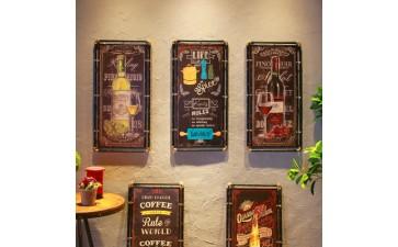 欧式装饰画_酒吧墙壁欧式装饰画 餐厅装饰工艺挂画铁艺壁挂工艺品批发-- 义乌市诚远工艺品有限公司