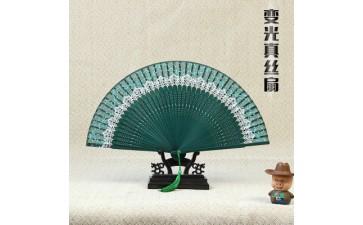 日式折扇_中国风蕾丝印花真丝扇日式折扇竹制品工艺扇古风女-- 杭州念亲恩服饰有限公司