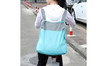 折叠购物袋_便携折叠背包 拼色折叠购物袋运动休闲厂家直销 支持一件拿样-- 广州新莱贸易有限公司