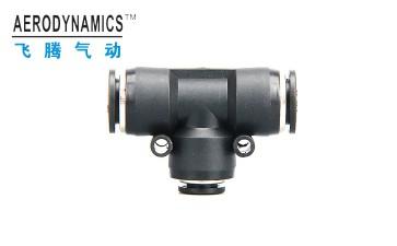 气动快速PEG-46810121416塑料T型三通接头-- 浙江飞腾气动科技有限公司