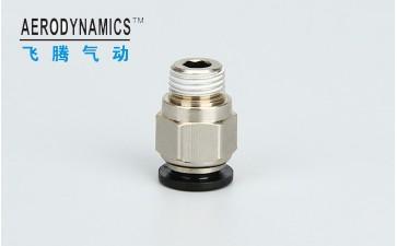 气动快速接头 外螺纹直通 优质铜PC12-01020304-- 浙江飞腾气动科技有限公司