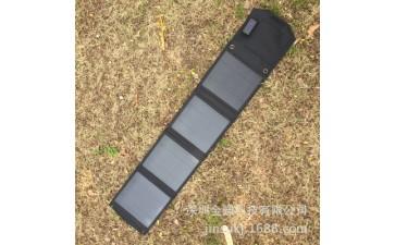 太阳能折叠包_10w单晶硅太阳能折叠包 户外应急移动黑色手机电池-- 深圳金骕科技有限公司