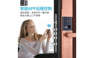 智能门锁_厂家直销 家用防盗门指纹锁 指纹识别刷卡锁 智能-- 顺德区容桂固坤智能锁业厂