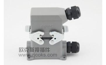 连接器插头_重载 孔 工业连接器矩形插头封闭高座-- 浙江欧克斯电气有限公司