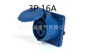 工业插头插座_厂家直销供应 直式插头插座3 ip44尼龙塑料313-- 浙江侨迪电气有限公司