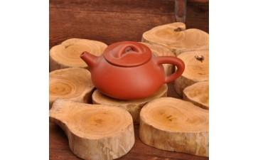 黄杨木根雕_黄杨木原木根雕 奇玉石头玛瑙茶壶工艺品摆件 实木底座 厂家直销