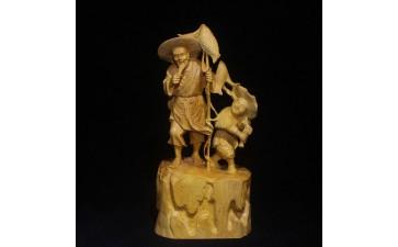 木雕工艺品_黄杨木雕工艺品 而实木雕刻 家居创意摆饰摆件