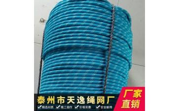 攀岩安全绳_厂家直销 登山攀岩安全绳 攀岩绳索 12mm-- 泰州市天逸绳网厂