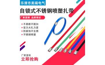 不锈钢扎带_彩色304多用自锁式不锈钢扎带易拉得扎带使用方便-- 乐清市美瑞电气有限公司