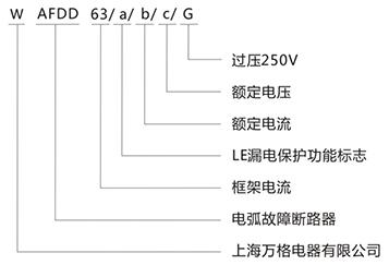 电弧故障断路器型号含义