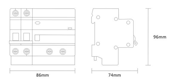 电弧故障断路器外形尺寸
