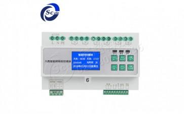 智能照明时控光控模块6路 16A